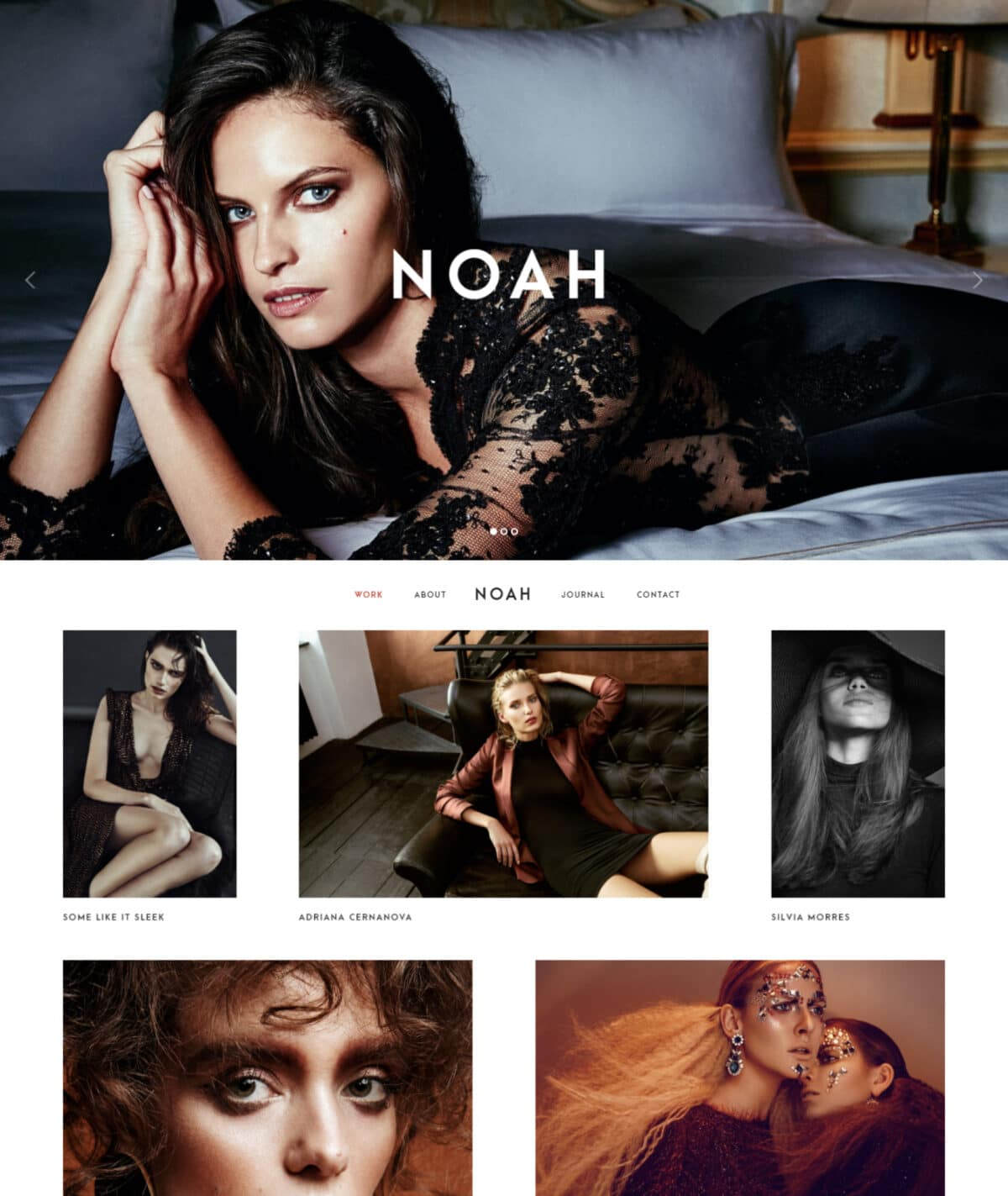 Noah WordPress theme for photographers Desktop View