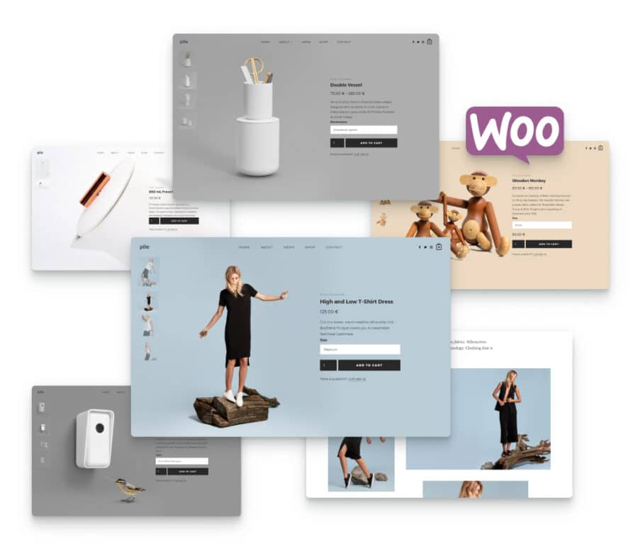 WooCommerce integration for Pile, a portfolio WordPress theme