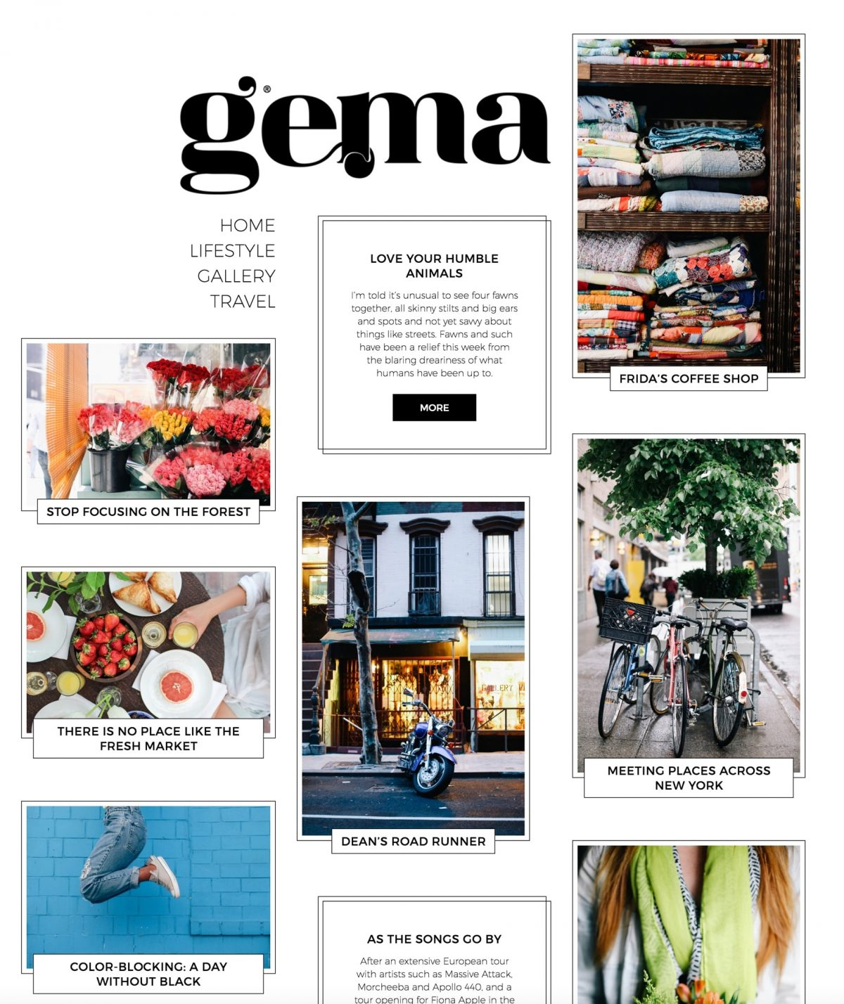 Gema clean personal blogging WordPress theme Desktop View