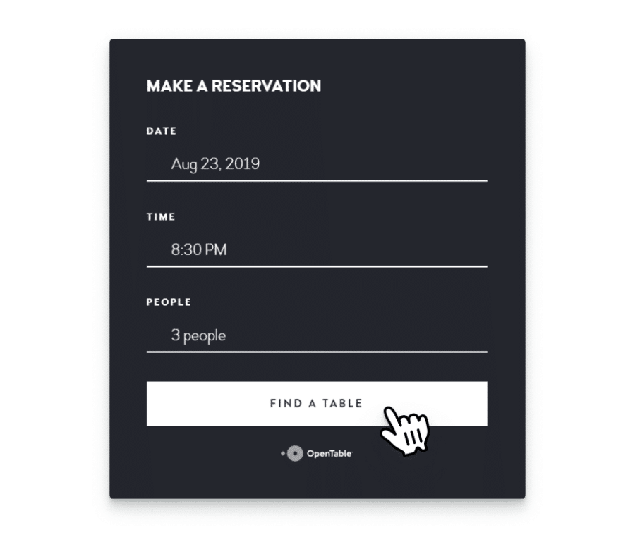 Built-in online reservation system