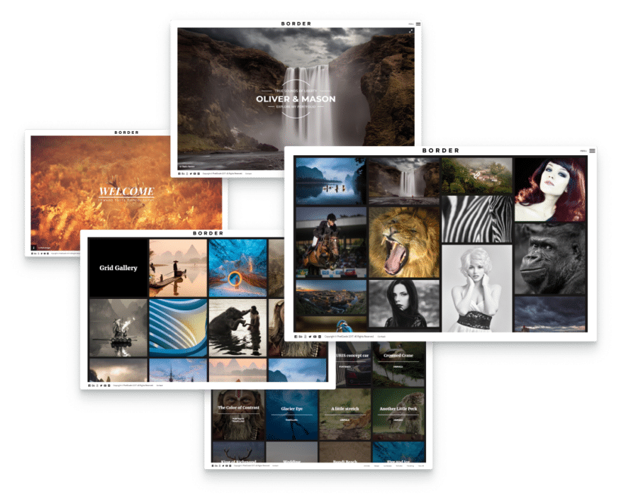 showcase photographs in galleries with this photography WordPress theme