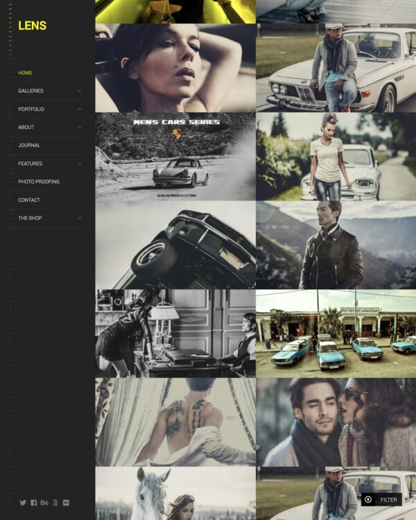 Lens clean photography WordPress theme