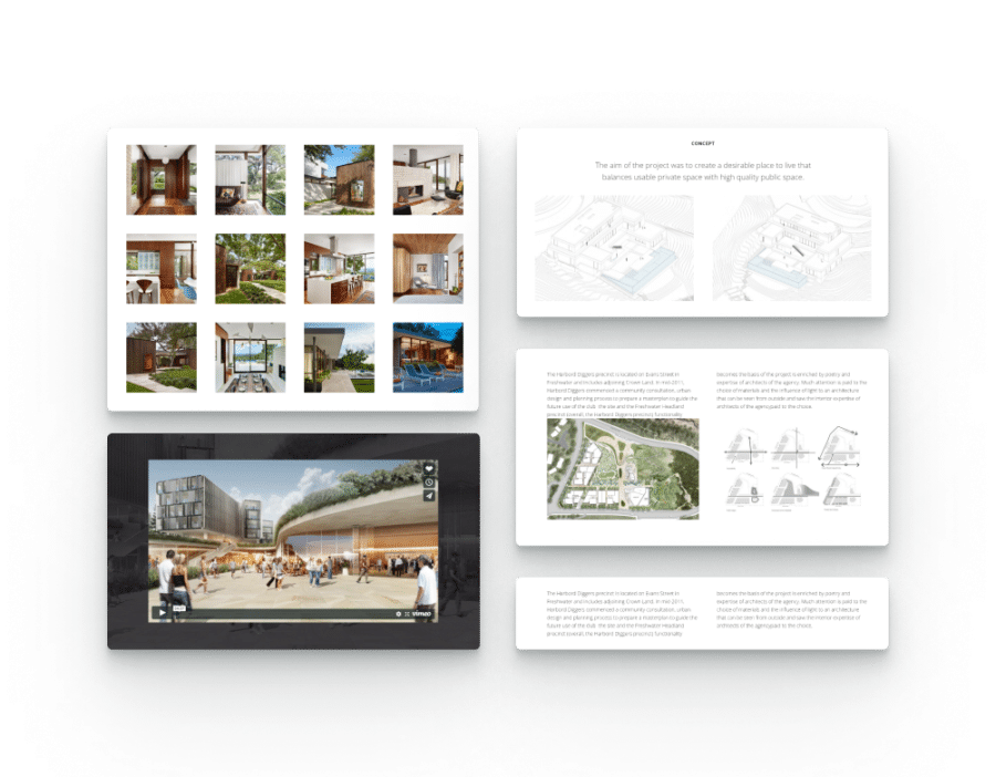 architecture WordPress theme with multiple portfolio showcase options