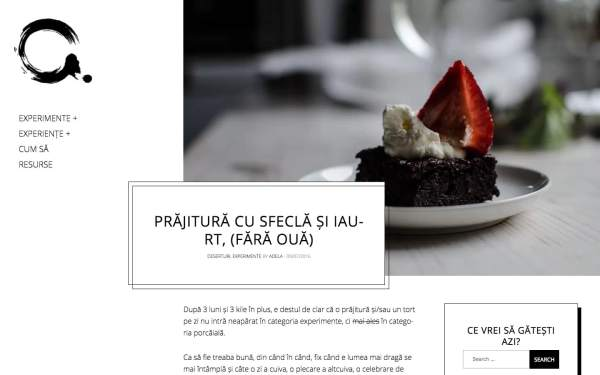 Adelicii food blog created with Gema WordPress theme