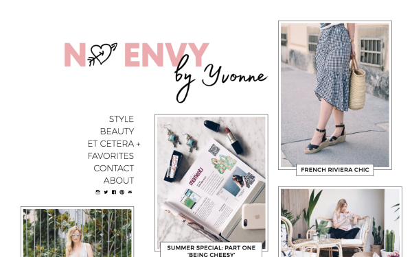 No Envy fashion, beauty, and lifestyle created with Gema WordPress theme