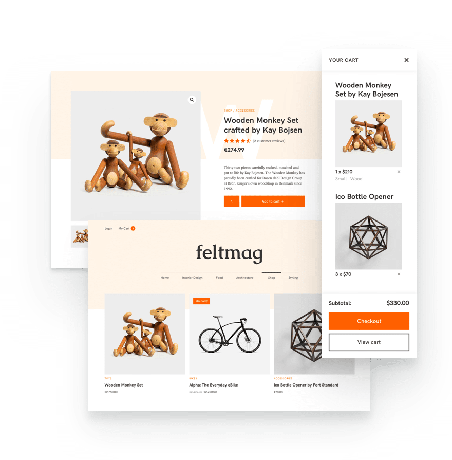 woocommerce integration to create an online store for your magazine WordPress theme