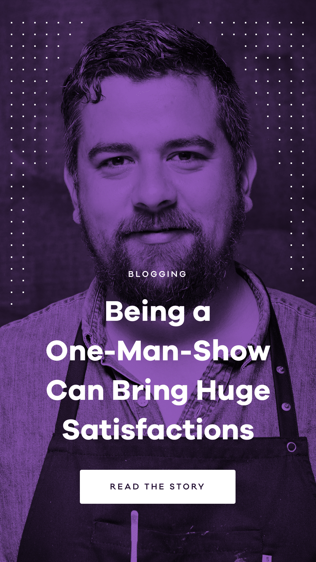 Learn from Thomas Alcayala how you can be a successful one-man-show as a blogger and do work that makes you happy and proud.