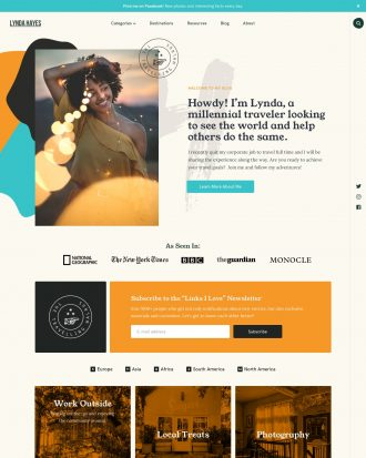 Vasco a travel blog WordPress theme