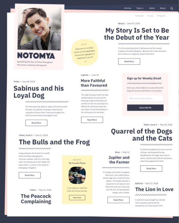 Noto a WordPress theme for writers