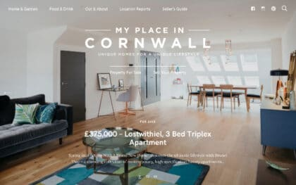 My place in Cornwall - website for a Felt Customer