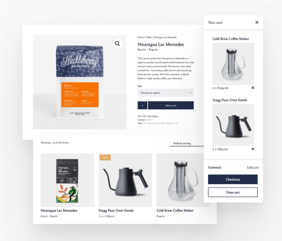 Restaurant WordPress theme integrated with WooCommerce and Open Table