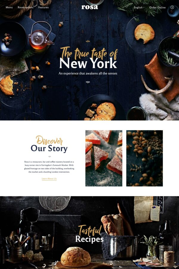 Rosa 2 best-selling restaurant WordPress theme
