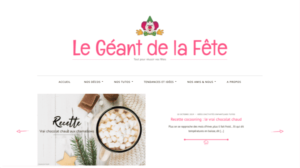 Le Geant de la Fete - Website Created with Silk - A fashion blogging WordPress theme Desktop View