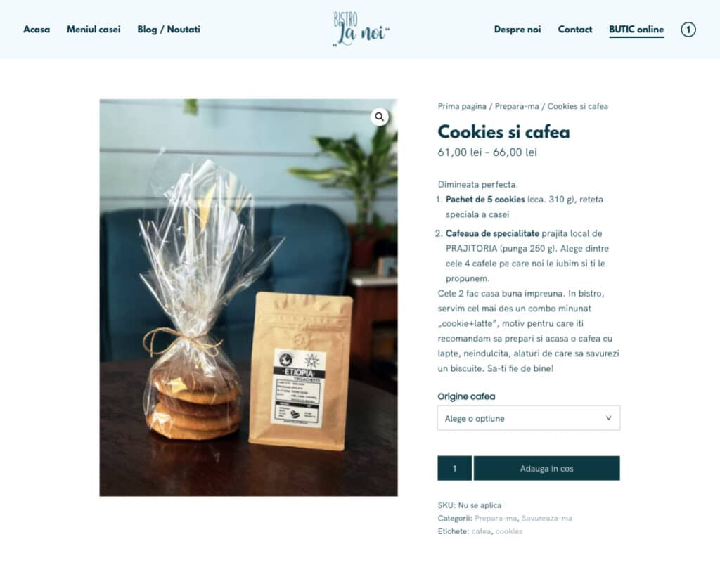 One of the products available on Bistro La Noi's new online shop