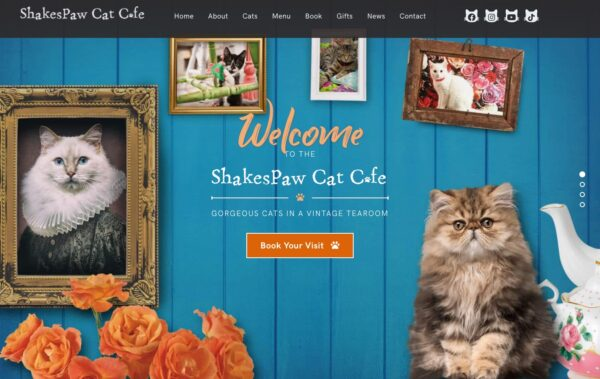 Shakespaw Cat Cafe Website created with Rosa 2
