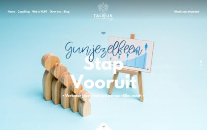 Talrijk Coaching Website created with Rosa 2