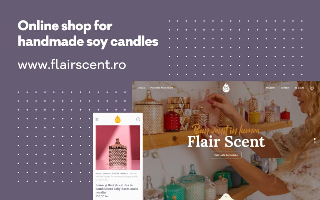 Flair Scent looking hot with a website made with Rosa2